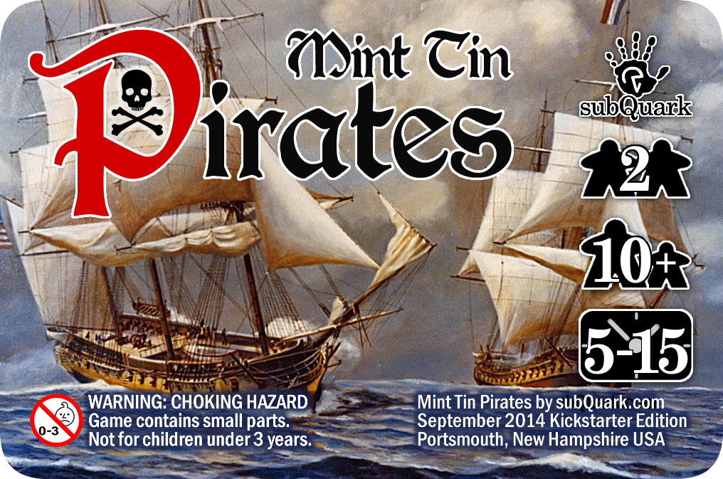 subQuark publishing - Mint Tin Pirates